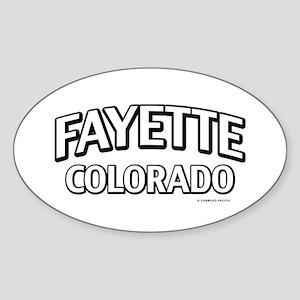Fayette Colorado Sticker