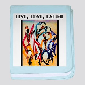 Live, Love, Laugh  baby blanket