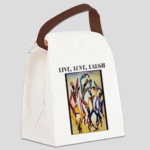 Live, Love, Laugh  Canvas Lunch Bag
