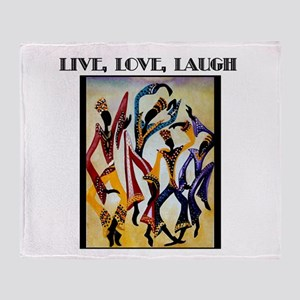 Live, Love, Laugh  Throw Blanket