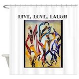 Laugh Shower Curtains