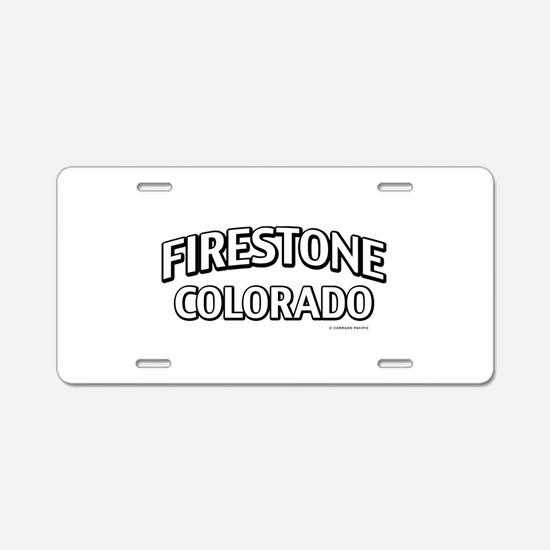 Firestone Colorado Aluminum License Plate