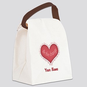 Be The Change - Personalized! Canvas Lunch Bag