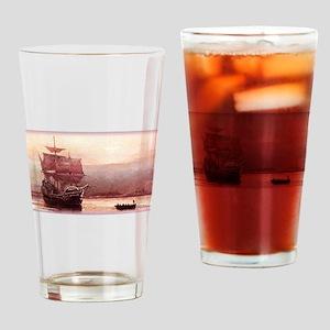 Mayflower in the Hudson Drinking Glass