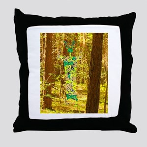Cernunnos in the Trees Throw Pillow