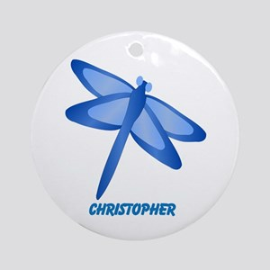 Personalized Dragonfly Ornament (Round)