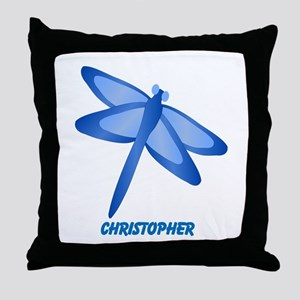 Personalized Dragonfly Throw Pillow