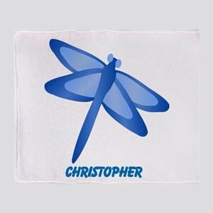 Personalized Dragonfly Throw Blanket
