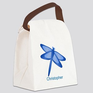Personalized Dragonfly Canvas Lunch Bag