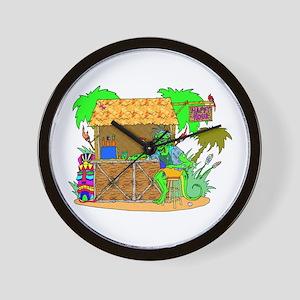 tiki bar happy hour Wall Clock