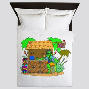 tiki bar happy hour Queen Duvet