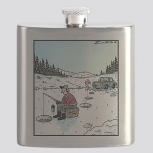 Ice-fishing fish prank Flask