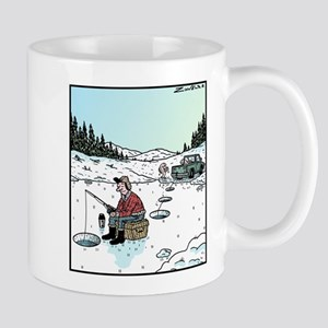 Ice-fishing fish prank Mug
