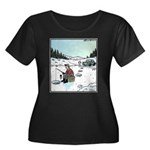 Ice-fishing fish prank Plus Size T-Shirt