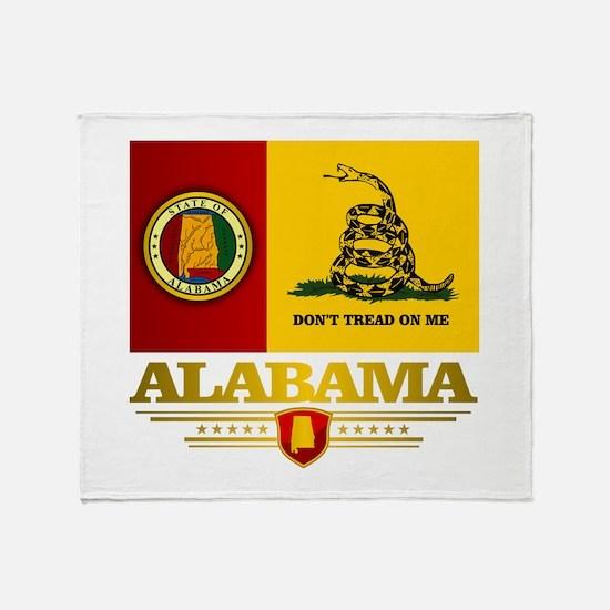 Alabama Gadsden Flag Throw Blanket