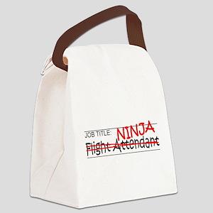 Job Ninja Flight Attendant Canvas Lunch Bag