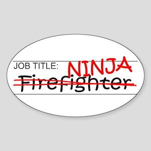 Job Ninja Firefighter Sticker (Oval)