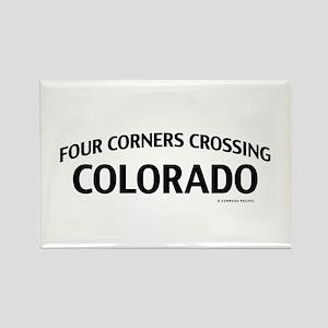 Four Corners Crossing Colorado Rectangle Magnet
