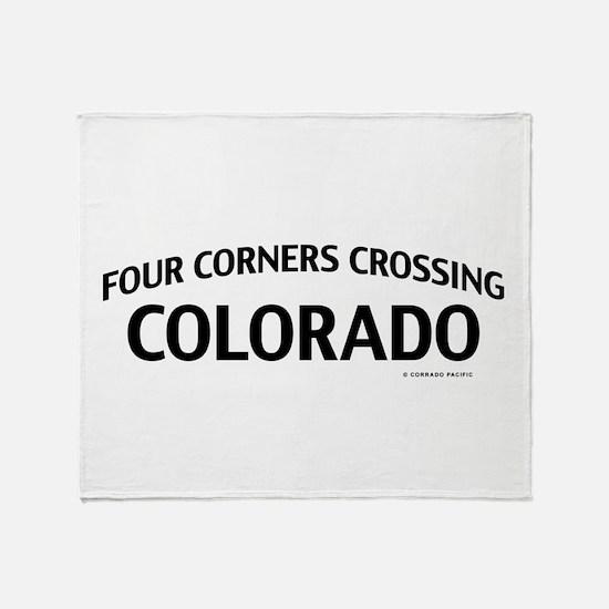 Four Corners Crossing Colorado Throw Blanket