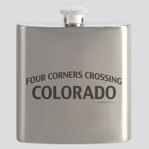 Four Corners Crossing Colorado Flask