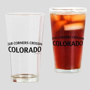 Four Corners Crossing Colorado Drinking Glass