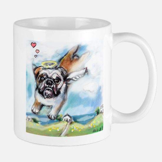 English Bulldog Angel Mug