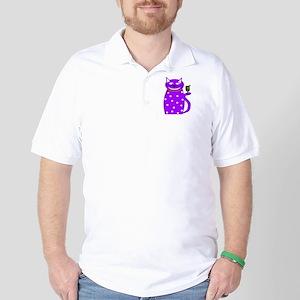 Whimsical Cat Golf Shirt