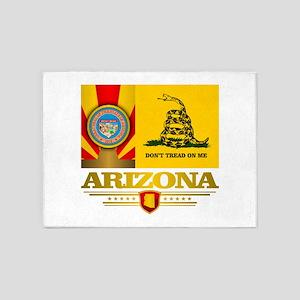 Arizona Gadsden Flag 5'x7'Area Rug