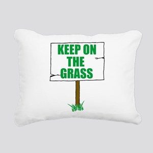 Keep On Grass Rectangular Canvas Pillow