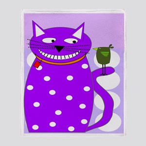 Whimsical Cat Throw Blanket