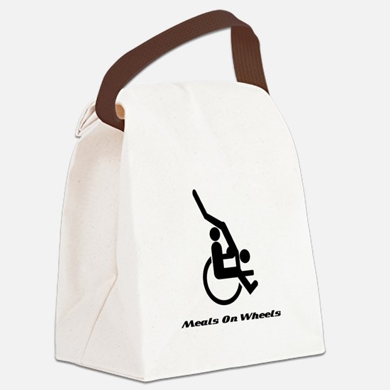 Meals on wheels.png Canvas Lunch Bag