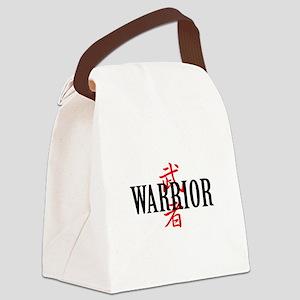 Warrior Asian Canvas Lunch Bag