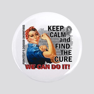 """Rosie Keep Calm Parkinsons 3.5"""" Button"""