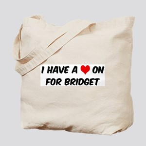 Heart on for Bridget Tote Bag