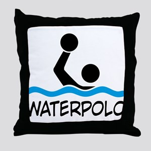 waterpolo Throw Pillow