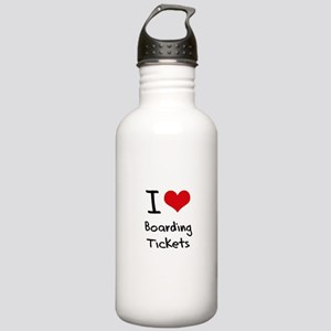 I Love Boarding Tickets Water Bottle