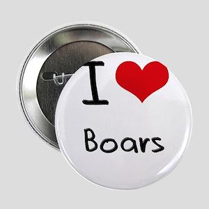 """I Love Boars 2.25"""" Button"""