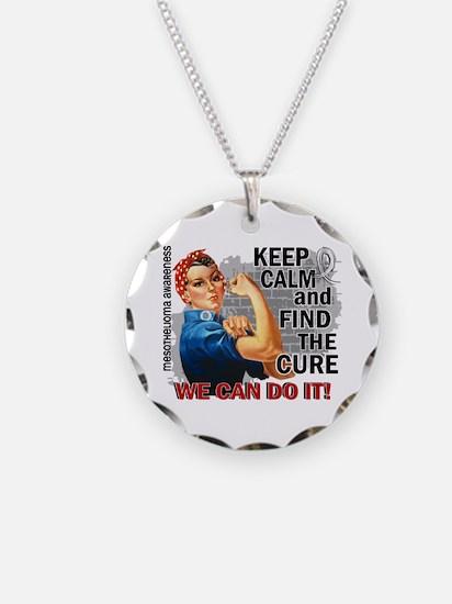 Rosie Keep Calm Mesothelioma Necklace