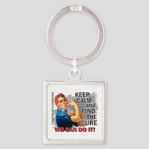 Rosie Keep Calm Mesothelioma Square Keychain