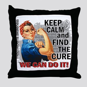 Rosie Keep Calm Mesothelioma Throw Pillow