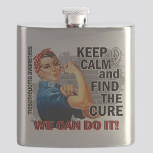 Rosie Keep Calm Mesothelioma Flask