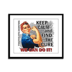 Rosie Keep Calm Mesothelioma Framed Panel Print