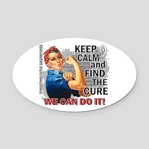Rosie Keep Calm Mesothelioma Oval Car Magnet