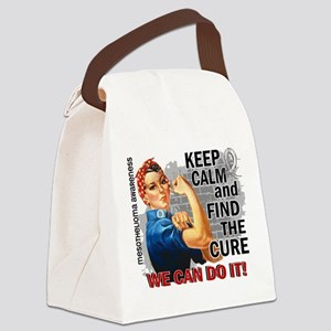 Rosie Keep Calm Mesothelioma Canvas Lunch Bag