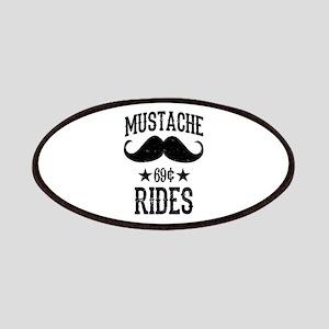 Mustache Rides Black Patches