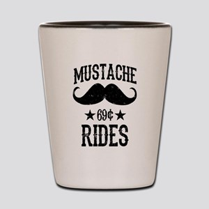Mustache Rides Black Shot Glass
