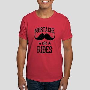 Mustache Rides Black T-Shirt