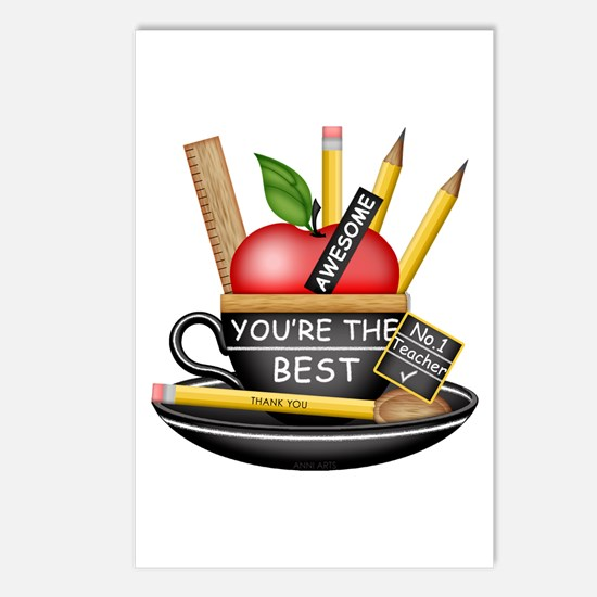Teachers Apple Teacup Postcards (Package of 8)