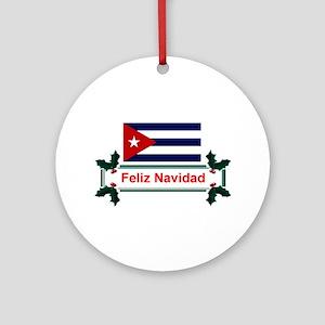 Cuban Feliz Navidad Keepsake Ornament