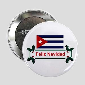 Cuban Feliz Navidad Button